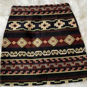Zara aztec MINI skirt new size XS